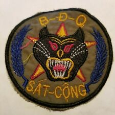 VIETNAM WAR - ARVN PATCH - B-D-Q- SAT CONG -CHEESECLOTH BACKING (A101)