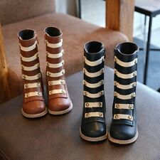 Shoes Boot Girls Fashion Rivet Knee-high Boots Soft Non-slip Rubber Sole Boots