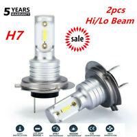 H7 LED Headlight Bulbs Conversion Kit Hi/Lo Beam 55W 8000LM 6000K Super Bright