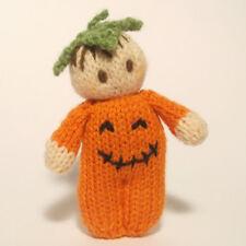 Halloween Bitsy Baby Pumpkin doll knitting pattern