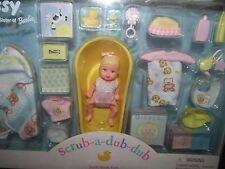 New NIB 26897 Barbie Baby Krissy Doll Scrub a Dub Bath Time Fun Nursery Playset