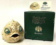 Retired Harmony Kingdom 'Monica' Roly Poly Box Figurine Blow Fish Puffer