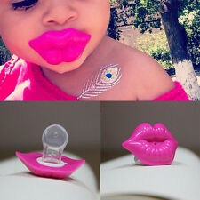 Lip Pacifier Dummy Baby Soother Joke Prank Toddler Orthodontic Funny Nipples W2