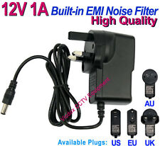 AC to DC 12V 1A Power Supply Adapter Low-Ripple & Noise for CCTV Security Camera