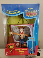 TOY STORY 2 DISNEY HANG AROUND WOODY MARIONETTE  DOLL NEW IN BOX