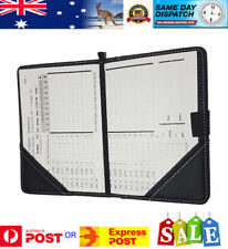 DELUXE GOLF SCORECARD HOLDER BLACK SYN LEATHER - AU Stock - Fast Dispatch