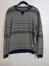 Scotch and Soda Crew Neck Jumper Sweater Fair isle pattern nordic Mens Size M