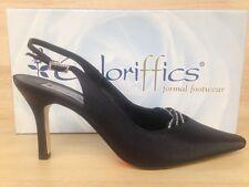 Coloriffics 5822 Divine Women��s Black Satin Heel US Size 7.0M