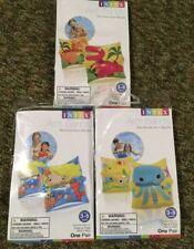(3) Pair Intex Childrens Inflatable Swim Arm Bands Kids Mermaid Dinosaur A7