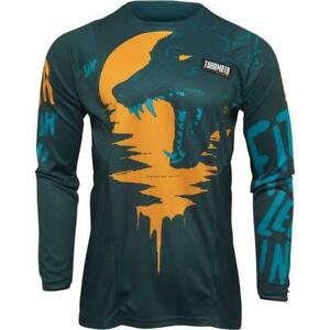NEW Thor Youth Pulse Counting Sheep Jersey - Teal/Tangerine from Moto Heaven