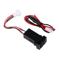 Dual 2-port USB Car Auto Charger In Car Socket Adapter 12V for Toyota Vigo Black