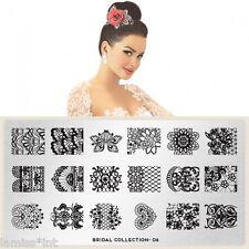 MoYou London BRIDAL 6 Collection Stamping Schablone, Hochzeit Braut Spitze
