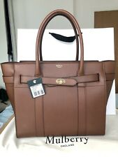 Mulberry Bayswater Zipped Oak Handbag Tote LARGE Authentic BNWT Sold Out