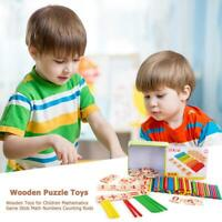 Wooden Toys for Children Mathematics Game Stick Math Numbers Counting Rods