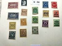 Mint Worldwide stamps lot # G 36 Germany unchecked for value