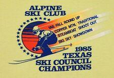 L * thin vtg 80s 1985 ALPINE SKI CLUB Texas Council Champs t shirt * 75.98
