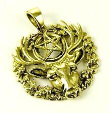"""Venta * bronce """"Hart del Wildwood"""" con Pentagrama Colgante Collar Encerado Cable &"""