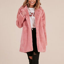 Women Faux Fur Long Coat Ladies Fluffy Winter Warm Jacket Overcoat Windbreaker