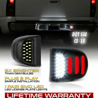 For Chevy Silverado 1999-2013 Avalanche BRIGHT SMD LED License Plate Lights Lamp