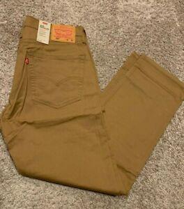 Levi's 505 Men's Regular Fit Jeans W Stretch Brown Men's Sizes NWT 1502 RT$59.5