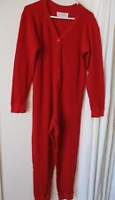 Victoria's Secret Country Red Thermal camping PJ onepiece romper jumpsuit Women
