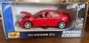 Maisto 2003 Dodge Neon SRT4 1:24 Red - Diecast