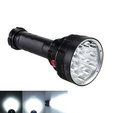 Super Bright 32000LM 16X XM-L T6 LED Flashlight Torch 6x18650 Hunting Lamp