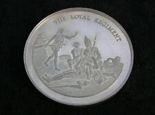 More details for solid silver medallion the loyal regiment 45 grammes