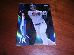 2020 Topps Chrome #45 GLEYBER TORRES Refractor New York Yankees