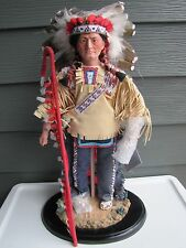 Sitting Bull Chief of the Great Sioux Nation Danbury Mint Porceline Doll IOB