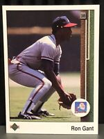 1989 Upper Deck Ron Gant Baseball Card Atlanta Braves Mint MLB #378 Rookie RC