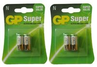 4 GP SUPER ALKALINE BATTERY SIZE N 4 BATTERIES E90 N LR1 MN9100 910A 2x2 Pack