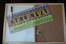 Corkboard / Whiteboard 2 in 1 Combo 40cm x 60cm FREE Pins & Marker
