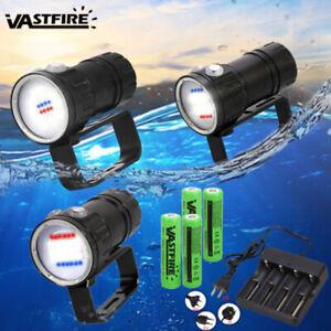 50000LM 27 LED Weiß Blau Rot Diving Tauchen Taschenlampe Licht Unterwasser 100m