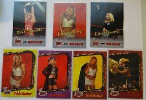 Trish Stratus WWE WWF Absolute Divas 2002 7 Wrestling Card Lot