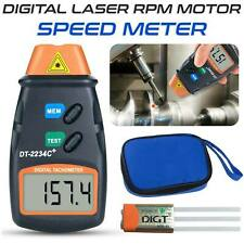 Digital Tachometer Non Contact Laser Photo RPM Tach Meter Motor Speed Gauge US