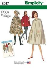 SIMPLICITY SEWING PATTERN 1960's VINTAGE CAPE IN 2 LENGTHS & SCARF 6 - 22 8017
