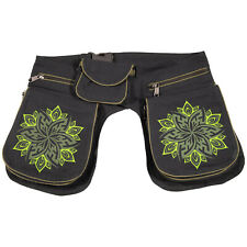 Doppelt Bauchtasche Hüfttasche Hippie Gürteltasche Festivaltasche Hipbag Sidebag
