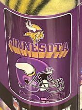 Minnesota Vikings Grid iron Style NFL  Fleece Throw Blanket NEW