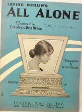 All Alone Sheet Music Irving Berlin 1924 Art Deco Vintage