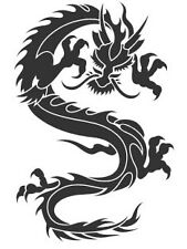 20cm Vinyl car,truck, ute, 4WD decal Dragon #1 , skateboard - Choose colour