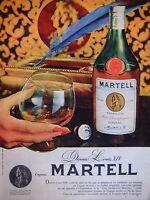 PUBLICITÉ 1960 COGNAC MARTELL FINE CHAMPAGNE DEPUIS LOUIS XIV QUALITÉ INÉGALABLE