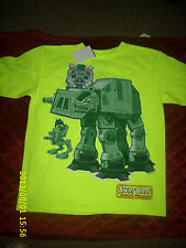 ANGRY BIRD STAR WARS NEON YELLOW T-SHIRT NEW WITH TAGS