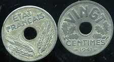 20 ( VINGT ) CENTIMES ZINC 1941