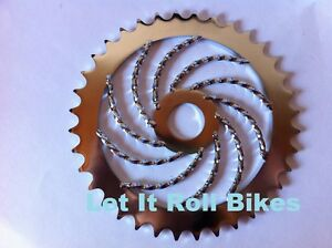 Bicycle Twisted Chainring Sprocket 36T Chrome Cruiser Lowrider Bikes
