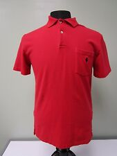 Polo By Raulph Lauren Polo Shirt Pony Logo 100% Cotton Red Mens Size S Euc