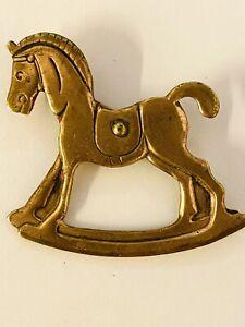 Vintage Child's Rocking Horse Pin
