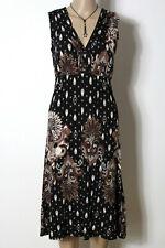 s.Oliver Kleid Gr. 36 schwarz Empire Ornament Muster Slinky Kleid im Ethno Look