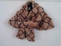 Chanel Brown Real Fur Muffler Stole Scarf