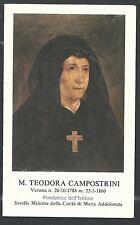 Estampa de la Venerable Teodora santino holy card image piuse